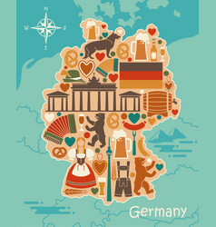 Traditional symbols of germany in the form of a vector
