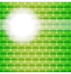 Background with green triangles and circles vector
