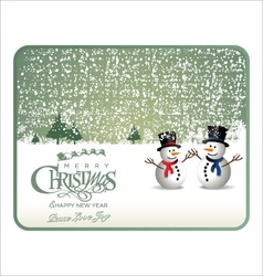 Christmas green card vector image vector image