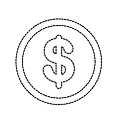 currency coin dollar money cash icon vector image