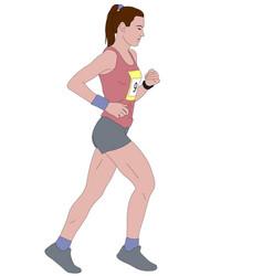 female runner detailed vector image vector image