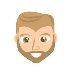 happy man face cartoon vector image