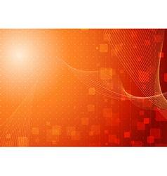 Modern hi-tech background template in orange vector image vector image