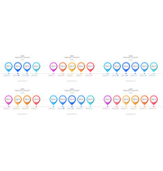 set of timeline infographic template vector image