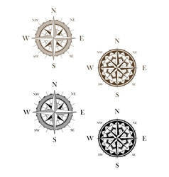 Set of vintage compass signs vector image vector image