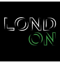 T shirt typography graphics London city brush vector image vector image