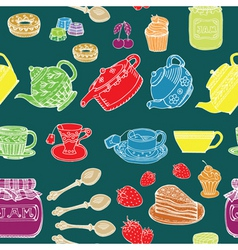 afternoon tea print vector image