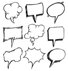 bubble speech doodle vector image vector image