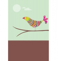 colorful bird card vector image vector image