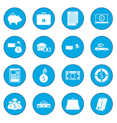 credit set icon blue vector image