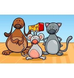 cute pets characters cartoon vector image vector image