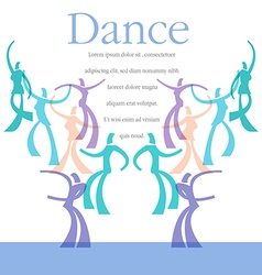 Dance Art template vector image