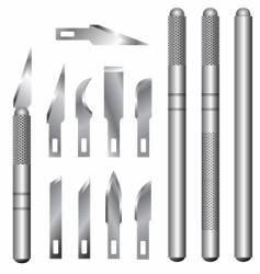 hobby knife vector image vector image