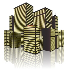 Isolated on White Background city vector image vector image