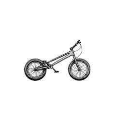 trial bike mod vector image vector image