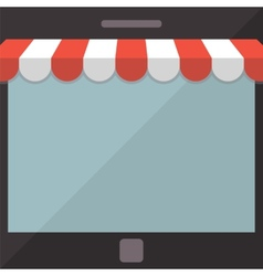 Abstract background Mobile store concept vector