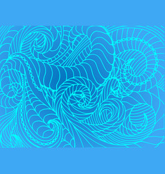 Abstract wave background of doodle hand vector