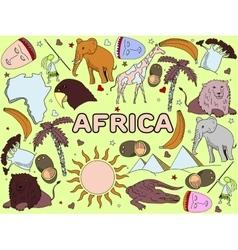Africa line art vector image