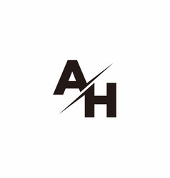 Ah logo letter monogram slash with modern logo vector