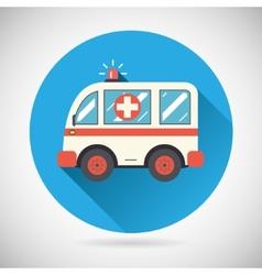 Ambulance car icon health treatment symbol vector
