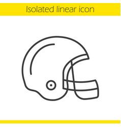 American football helmet linear icon vector