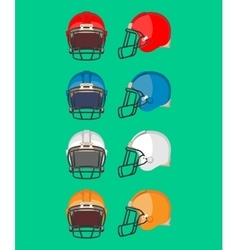 American Football Helmet Set Protective Equipment vector
