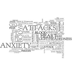Anxiety attack symptoms text word cloud concept vector