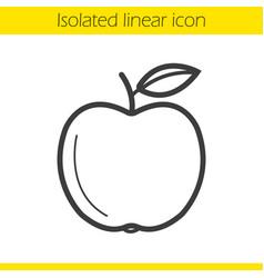Apple linear icon vector