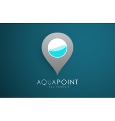 Aqua logo design Aqua point Water logo design vector