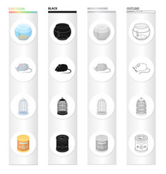 aquarium glass round and other web icon in vector image