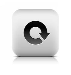 Arrow loop refresh reload rotation reset icon vector image