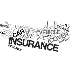 auto insurance which type is right for you text vector image