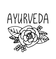 Ayurveda product label suitable for packaging vector