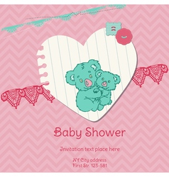 Baby Shower Card with Koala vector image