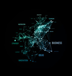 big data business solution concept in word tag vector image