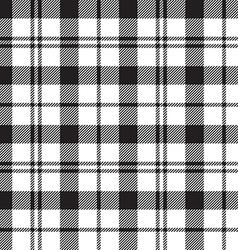 Black Watch milytary tartan seamless pattern black vector image