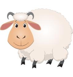 Cartoon baby sheep vector