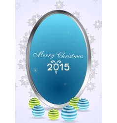 Christmas abstract background with silver frame vector