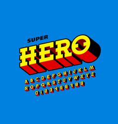 Comics book style font super hero vector