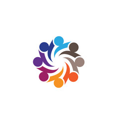 Community people care logo and symbols vector
