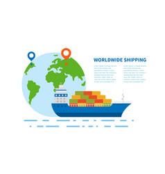 Concept international maritime transport vector