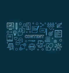 content concept blue linear horizontal vector image