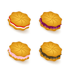 cookies colored icons set vector image