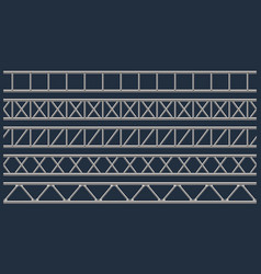 creative of steel truss girder vector image