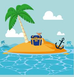 cute island cartoon vector image