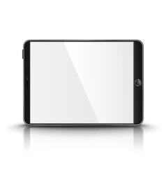 Dark modern tablet computer with blank screen vector image