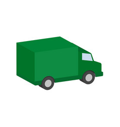 Delivery van commercial vehicle symbol flat vector