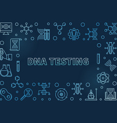 dna testing concept blue linear vector image