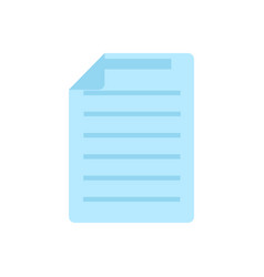 document icon blue symbol on a white background vector image