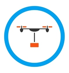 Drone Shipment Rounded Icon vector image
